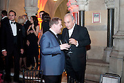JAMES CORDEN; SIR PHILIP GREEN, British Fashion awards 2009. Supported by Swarovski. Celebrating 25 Years of British Fashion. Royal Courts of Justice. London. 9 December 2009