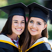 """25.08.2016          <br />  Faculty of Business, Kemmy Business School graduations at the University of Limerick today. <br /> <br /> Attending the conferring were graduates, Claire Cahill, BA in International Studies, Brosna Co. Kerry and Niamh Storan, BBs, Dooradoyle Co. Limerick. Picture: Alan Place.<br /> <br /> <br /> As the University of Limerick commences four days of conferring ceremonies which will see 2568 students graduate, including 50 PhD graduates, UL President, Professor Don Barry highlighted the continued demand for UL graduates by employers; """"Traditionally UL's Graduate Employment figures trend well above the national average. Despite the challenging environment, UL's graduate employment rate for 2015 primary degree-holders is now 14% higher than the HEA's most recently-available national average figure which is 58% for 2014"""". The survey of UL's 2015 graduates showed that 92% are either employed or pursuing further study."""" Picture: Alan Place"""