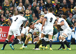 South Africa Springboks player S'bu Nkosi battles for the ball with of England during the first test at the Ellis Park stadium, Johannesburg.<br />Picture: Itumeleng English/African News Agency (ANA)