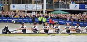 Putney- Mortlake, LONDON, GREAT BRITAIN,  Oxfords' right to left;  3. Kevin BAUM, 4. Alex DAVIDSON,5. Karl HUDSPITH, 6. Dr. Hanno WIENHAUSEN, 7. Dan HARVEY, Stk. Roel HAEN, Cox. Zoe DE TOLEDO. in the opening minutes of the 2012 Boat Race, Oxford University vs Cambridge University. Raced over the championship course. Putney/Mortlake, Saturday  07/04/2012  [Mandatory Credit, Peter Spurrier/Intersport-images]..Crews:.OUBC. Bow Dr. Alexander WOODS, 2. William ZENG, 3. Kevin BAUM, 4. Alex DAVIDSON,5. Karl HUDSPITH, 6. Dr. Hanno WIENHAUSEN, 7. Dan HARVEY, Stk. Roel HAEN, Cox. Zoe DE TOLEDO...CUBC. Bow. David NELSON, 2. Moritz SCHRAMM, 3. Jack LINDEMAN, 4. Alex ROSS , 5.Michael THORP, 6. Steve DUDEK, 7 Alexander SCHARP, Stk. Niles GARRETT . Cox. Ed BOSSON .