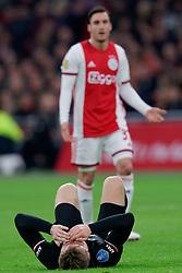 Fredrik Midtsjo #6 of AZ Alkmaar in action during the Dutch Eredivisie match round 25 between Ajax Amsterdam and AZ Alkmaar at the Johan Cruijff Arena on March 01, 2020 in Amsterdam, Netherland