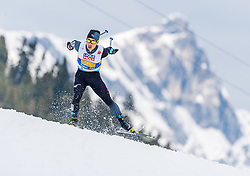 02.03.2019, Seefeld, AUT, FIS Weltmeisterschaften Ski Nordisch, Seefeld 2019, Nordische Kombination, Langlauf, Team Bewerb 4x5 km, im Bild Akito Watabe (JPN) // Akito Watabe of Japan during the Cross Country Team competition 4x5 km of Nordic Combined for the FIS Nordic Ski World Championships 2019. Seefeld, Austria on 2019/03/02. EXPA Pictures © 2019, PhotoCredit: EXPA/ Stefan Adelsberger