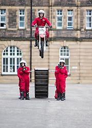 The 1,200 performers that will take part in the 2016 Royal Edinburgh Military Tattoo come together for the first time to rehearse.<br /> <br /> Pictured: The Imps