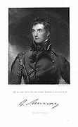 George Murray (1772-1846) Scottish general and statesman. Lieut-general and governor of Canada 1814. Engraving after the portrait by Thomas Lawrence.