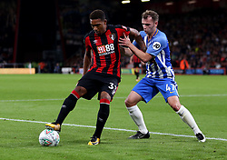AFC Bournemouth Jordon Ibe (left) and Brighton and Hove Albion Desmond Hutchinson in action during the Carabao Cup, third round match at the Vitality Stadium, Bournemouth.