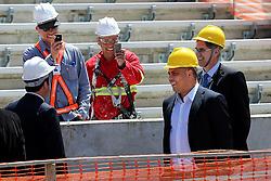 O ex-jogador de futebol Ronaldo Nazário durante visita as obras de reforma do estádio Beira Rio em 07 de outubro de 2013. O Estádio Beira Rio, que receberá jogos da Copa do Mundo de Futebol 2014, tem sua re-inauguração agendada para 04 de abril de 2014. FOTO: Jefferson Bernardes/ Agência Preview