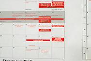 11/7/07 Smith Center, KS.Calendar in Smith Center High School..(shows football play-offs)..(Chris Machian/Prairie Pixel Group)