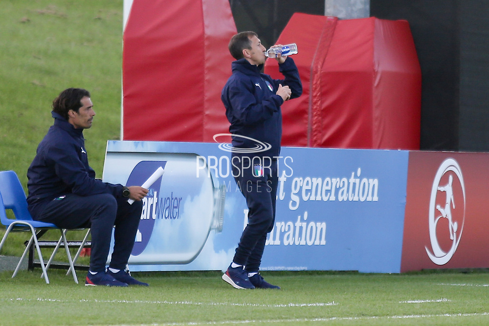 Carmine Nunziata Italy Coach during the UEFA European Under 17 Championship 2018 match between Israel and Italy at St George's Park National Football Centre, Burton-Upon-Trent, United Kingdom on 10 May 2018. Picture by Mick Haynes.
