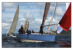 The final days racing at the Bell Lawrie Yachting Series in Tarbert Loch Fyne. The overall winners were decided in most classes on the last days racing...Swan 45 Fleet with  GBR945R Fever, Gordon / Diderichs , RORC.