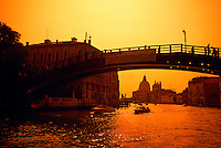 Ponte dell'Accademia (bridge), The Grand Canal, Venice, Italy
