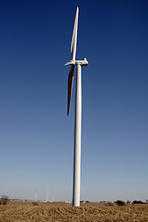 29 October 2006:  Windmill used to produce electricity. Eastern McLean County, Illinois.<br />