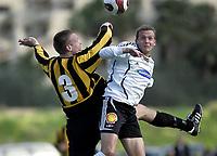 Fotball / Football<br /> La Manga Cup 2007 - Spain<br /> 23.02.2007<br /> Rosenborg v KR Reykjavik Island 1-0<br /> Foto: Morten Olsen, Digitalsport<br /> <br /> Øyvind Storflor - RBK<br /> Tryggvi Bjarnason - KR