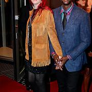 NLD/Amsterdam/20111017 - Premiere De Heineken Ontvoering, Sergio Hasselbaink en partner
