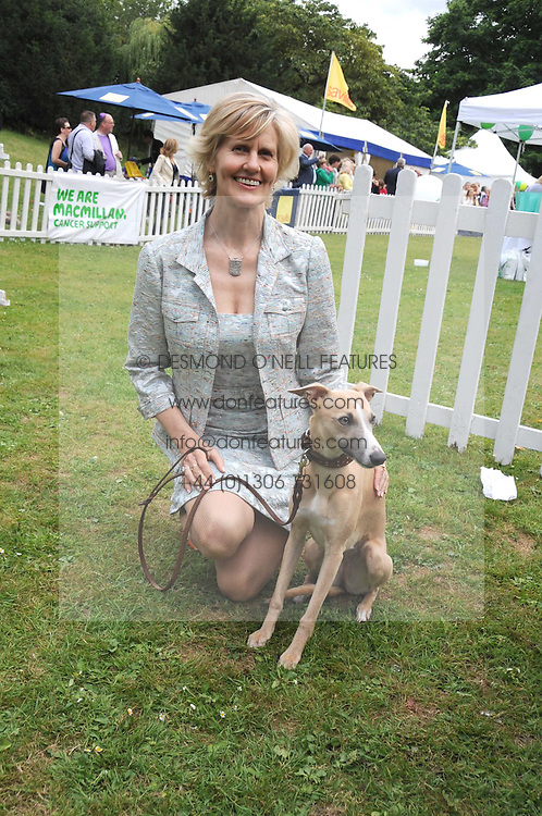 LINDKA CIERACH and her dog Zaffy at the Macmillan Dog Day in aid of Macmillan Cancer Support held at the Royal Hospital Chelsea, London on 8th July 2008.<br /><br />NON EXCLUSIVE - WORLD RIGHTS