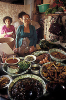 streetfood in a market in Yokjakarta, Indonesia
