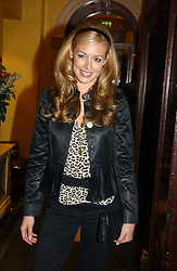 CAT DEELEY at a party hosted by jewellers Adler to celebrate 20 years in London held at 5 Cavendish Square, London on 4th May 2005.<br /><br />NON EXCLUSIVE - WORLD RIGHTS