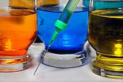 Nederland, Nijmegen, 8-2-2009Bij de behandeling van bepaalde ziektes wordt een cocktail van medicijnen toegediend.Foto: Flip Franssen