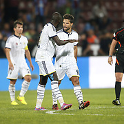 Fenerbahce's Diego Ribas (R) during their Turkish SuperLeague Derby match Trabzonspor between Fenerbahce at the Avni Aker Stadium at Trabzon Turkey on Sunday, 14 September 2014. Photo by Aykut AKICI/TURKPIX