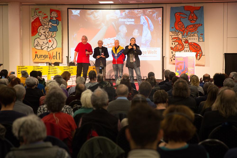 Berlin, Germany - 13.01.2018<br /> <br /> Venezuela Solidaritaet auf der Rosa Luxemburg Konferenz 2018 im MOA Bogen Berlin.<br /> <br /> Photo: Bjoern Kietzmann