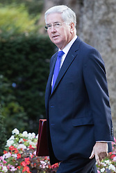 Downing Street, London, October 11th 2016. Government ministers arrive for the first post-conference cabinet meeting. PICTURED: Defence Secretary Michael Fallon.