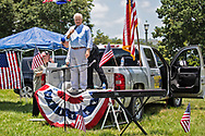 """Woody Jenkins, chairman of the executive committee for the Republican Party in East Baton Rouge Parish at a """"Save America Rally"""" in Baton Rouge on the 4th of July across the street from the Governor's Mansion.The 4th of July rally was organized by Jeff Crouer, Mimi Owens and Woody Jenkins, chairman of the executive committee for the Republican Party in East Baton Rouge Parish. Rev. Tony Spell of Life Tabernacle Church who has held church services in defiance of a stay-at-home order throughout the pandemic was one of the speakers. He an other speakers expressed their displeasure of being told to wear a mask to prevent the spread of Covid-19 and the removal of confederate monuments."""