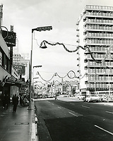 1960 Looking west towards Hollywood Blvd. & Highland Ave. near Coffee Dan's Cafe