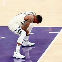 30 March 2018: Milwaukee Bucks guard Eric Bledsoe (6) is seen during the Milwaukee Bucks 124-122 victory over the LA Lakers, at the Staples Center, Los Angeles, California, USA.