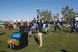 Team Brazil, Veniss Pedro, Amaral Felipe, Menezes Eduardo, Pessoa Rodrigo, (BRA), Bonneau Jean Maurice<br /> BMO Nations Cup<br /> Spruce Meadows Masters - Calgary 2015<br /> © Hippo Foto - Dirk Caremans<br /> 13/09/15