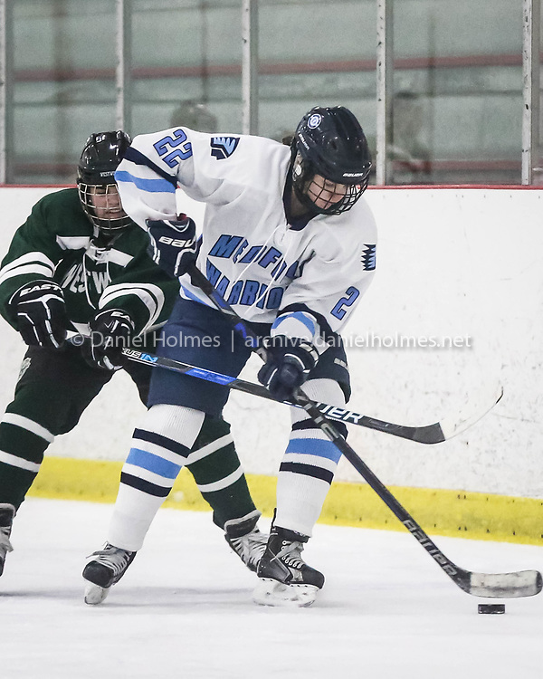 (1/16/17, WALPOLE, MA) Medfield's Kate Slowe skates passed the defense during the girls hockey game against Westwood at Westwood vs. Medfield girls hockey at Rodman Arena in Walpole on Monday. Daily News and Wicked Local Photo/Dan Holmes