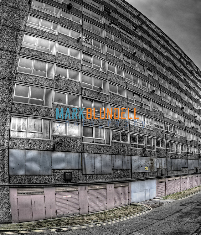 Derelict flats at Heygate Estate, Elephant and Castle, London