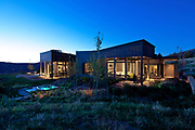 A home in Starwood, near Aspen, Colorado by CCY Archittects. Shot for LS Lighting Group, the photos capture the house around a central axis from east to west.