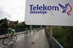 Riders on the bridge in Novo mesto in last 4th stage of the 15th Tour de Slovenie from Celje to Novo mesto (157 km), on June 14,2008, Slovenia. (Photo by Vid Ponikvar / Sportal Images)/ Sportida)