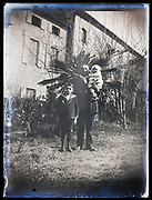 father with children portrait France 1921