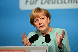 26.08.2013, Zwickau, GER, CD Wahlkampf, Bundeskanzlerin Angela Merkel besucht Zwickau, im Bild Bundeskanzlerin Angela Merkel (CDU) // during German Chancellor Angela Merkel visited Zwickau occasion of the CDU election program, Germany on 2013/08/26. EXPA Pictures © 2013, PhotoCredit: EXPA/ Eibner/ Bert Harzer<br /> <br /> ***** ATTENTION - OUT OF GER *****