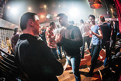 Students at the IKMS 'In The Club' seminar with KMG Global Team Instructor and Expert Level 5, Tommy Blom, at the Buff Club in Glasgow's City Centre. Bringing Krav Maga training out with the confines of the gym into a real nightclub/bar.<br /> © Michael Schofield.