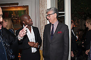 ADAM PENDLETON, Dinner to celebrate the opening of Pace London at  members club 6 Burlington Gdns. The dinner followed the Private View of the exhibition Rothko/Sugimoto: Dark Paintings and Seascapes.