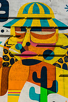 "A mural of Hunter S. Thompson (author of ""Fear and Loathing in Las Vegas"", Freemont Strreet, Downtown Las Vegas, Nevada USA."