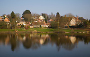 Polstead village and pond, Suffolk, England