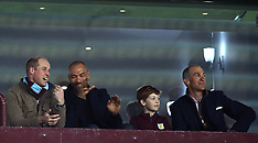 Prince William and John Crew at Aston Villa v Cardiff City - 10 Apr 2018