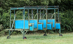 Discarded starting stalls are left out by the back straight. PRESS ASSOCIATION Photo. Picture date: Monday July 30, 2018. Photo credit should read: Simon Cooper/PA Wire