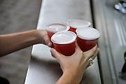 Nederland, Nijmegen, 18-6-2012Tijdens de voetbalwedstrijd Nederland-Portugal wordt op straat bier verkocht.Foto: Flip Franssen/Hollandse Hoogte