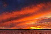 Storm on Waskesiu Lake<br /> Prince Albert National Park<br /> Saskatchewan<br /> Canada