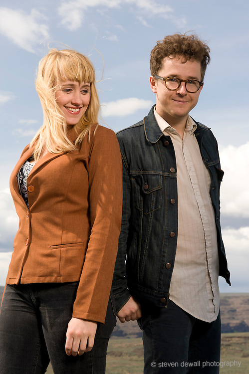Quincy, WA. - May 28th, 2011 Wye Oak pose for a portrait backstage at the Sasquatch Music Festival in George, WA. United States
