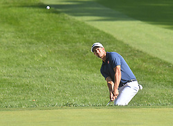 August 10, 2018 - St. Louis, Missouri, U.S. - ST. LOUIS, MO - AUGUST 10: Adam Scott hits out of the rough on the #15 hole during the second round of the PGA Championship on August 10, 2018, at Bellerive Country Club, St. Louis, MO.  (Photo by Keith Gillett/Icon Sportswire) (Credit Image: © Keith Gillett/Icon SMI via ZUMA Press)