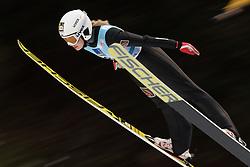 February 8, 2019 - Aleksandra Barantceva of Russia on first competition day of the FIS Ski Jumping World Cup Ladies Ljubno on February 8, 2019 in Ljubno, Slovenia. (Credit Image: © Rok Rakun/Pacific Press via ZUMA Wire)