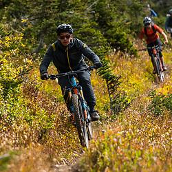 Billy mountain biking on Mt Cartier in Revelstoke BC