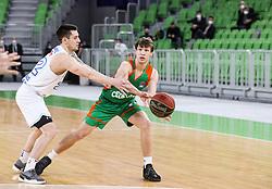 Dan Duscak of Cedevita Olimpija during basketball match between KK Cedevita Olimpija (SLO) and KK Zadar (CRO) in Round #22 of ABA League 2020/21, on January 30, 2021 in Arena Stozice, Ljubljana, Slovenia.  Photo by Vid Ponikvar / Sportida