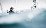 The 2015 Laser Women's Radial World Championship. Mussanah. Oman. November 18-26 November. Day 3 of racing - Sara Winther (NZL)<br /> Image licensed to Lloyd Images