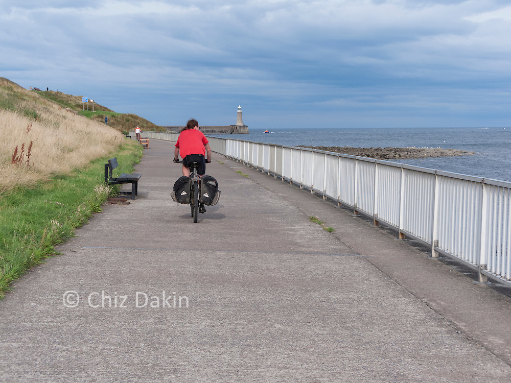 Final stretch by the North sea of the C2C cycle route
