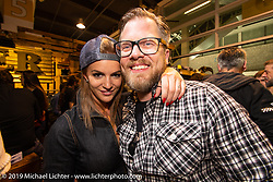 Rokker Apparel's Kai Glatt Friday night Rokker Apparel party during the Swiss-Moto Customizing and Tuning Show. Zurich, Switzerland. Friday, February 22, 2019. Photography ©2019 Michael Lichter.
